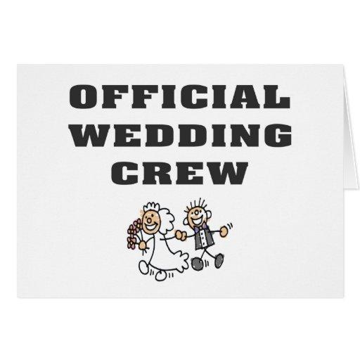 Equipo oficial del boda tarjeta de felicitación