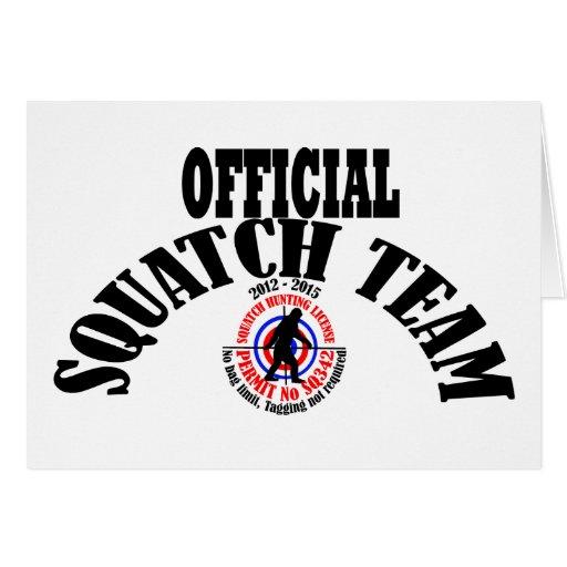 equipo oficial del squatch felicitación