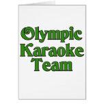 Equipo olímpico del Karaoke Felicitación