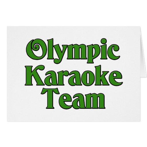 Equipo olímpico del Karaoke Felicitaciones