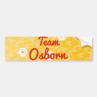 Equipo Osborn Etiqueta De Parachoque