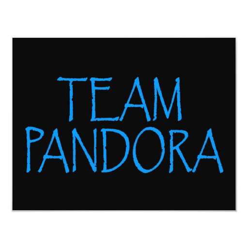 """Equipo Pandora, Pandora o busto Invitación 4.25"""" X 5.5"""""""