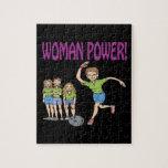 Equipo para mujer de los bolos puzzle