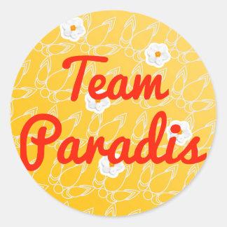 Equipo Paradis Pegatina Redonda