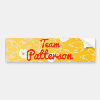 Equipo Patterson Etiqueta De Parachoque
