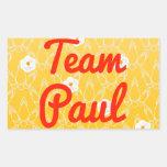 Equipo Paul Rectangular Pegatina