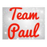 Equipo Paul Tarjeta Postal