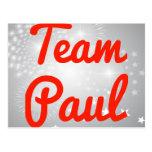 Equipo Paul Tarjetas Postales