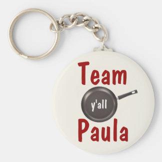 Equipo Paula - usted Llavero Redondo Tipo Pin