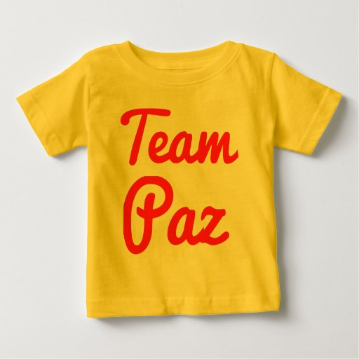 Equipo Paz Playera De Bebé