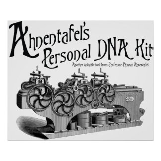 Equipo personal de la DNA de Ahnentafel Póster