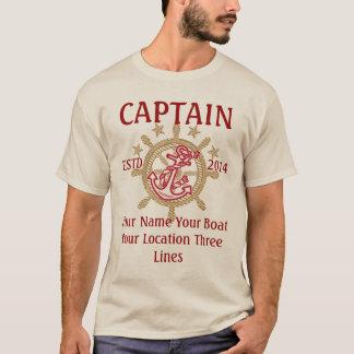 Equipo personalizado del capitán del capitán playera