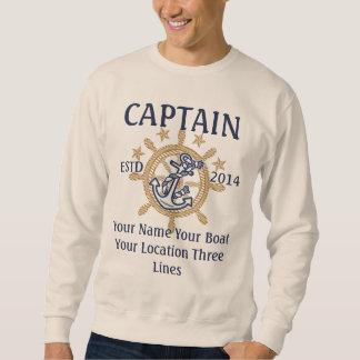 Equipo personalizado del capitán del capitán sudadera