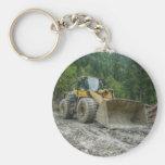 Equipo pesado del tractor amarillo grande de la ni llaveros personalizados