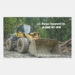 Equipo pesado del tractor amarillo grande de la ni pegatinas