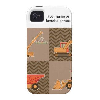 Equipo pesado del transporte - collage Case-Mate iPhone 4 fundas