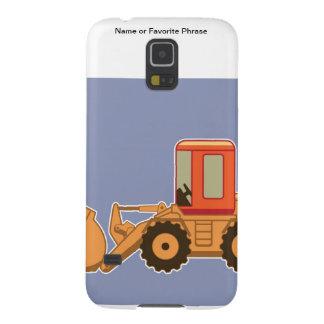 Equipo pesado Payloader - azul del transporte Carcasa Para Galaxy S5