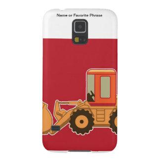 Equipo pesado Payloader - rojo del transporte Carcasa De Galaxy S5