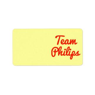 Equipo Philips Etiquetas De Dirección