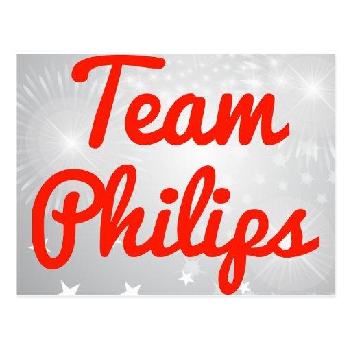 Equipo Philips Tarjeta Postal