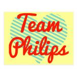 Equipo Philips Tarjetas Postales