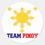 Equipo Pinoy 3 estrellas y un Sun Pegatinas