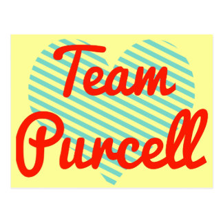 Equipo Purcell Tarjetas Postales