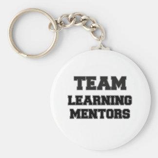 Equipo que aprende a mentores llaveros