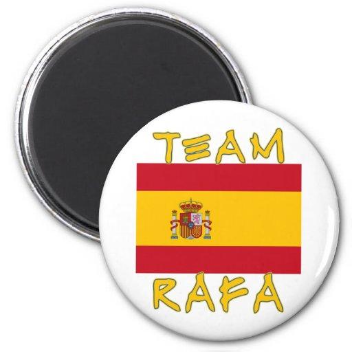 Equipo Rafa con la bandera española Imán De Frigorífico