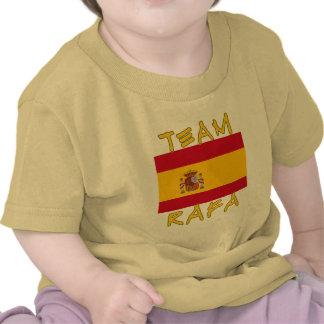 Equipo Rafa con la bandera española Camiseta