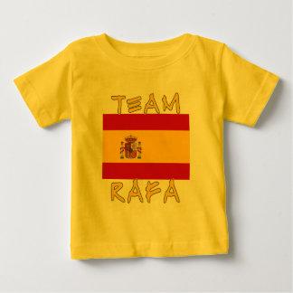 Equipo Rafa con la bandera española Playera De Bebé
