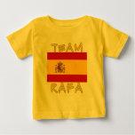Equipo Rafa con la bandera española Playeras