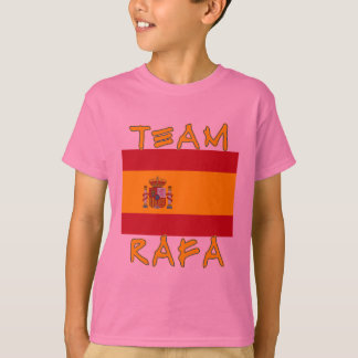 Equipo Rafa con la bandera española Remera
