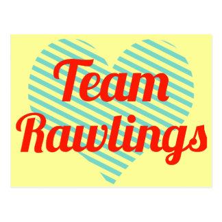 Equipo Rawlings Tarjeta Postal