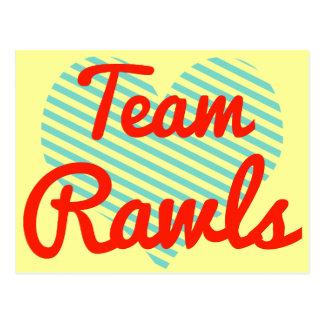 Equipo Rawls Tarjeta Postal