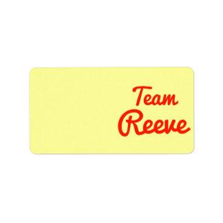 Equipo Reeve Etiquetas De Dirección