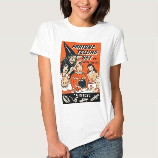 Equipo retro de la adivinación de Halloween del T-shirts