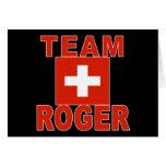 Equipo Rogelio con la bandera suiza Tarjeta De Felicitación