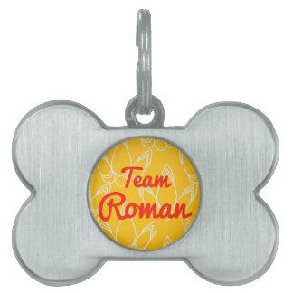 Equipo romano placas mascota