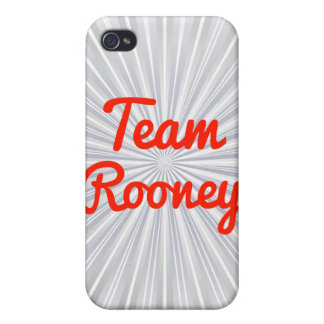 Equipo Rooney iPhone 4 Cárcasas