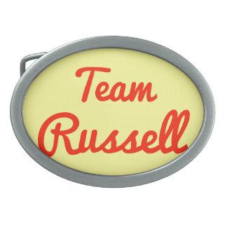 Equipo Russell Hebilla De Cinturón Oval