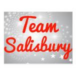 Equipo Salisbury Tarjetas Postales
