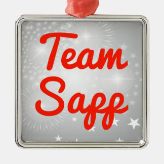 Equipo Sapp Adorno Cuadrado Plateado