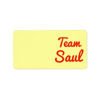 Equipo Saul Etiquetas De Dirección