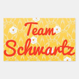 Equipo Schwartz Pegatina Rectangular