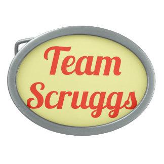 Equipo Scruggs Hebillas De Cinturón Ovales