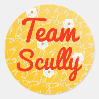 Equipo Scully Etiquetas Redondas