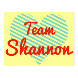Equipo Shannon Tarjetas Postales