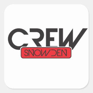 Equipo Snowden Calcomania Cuadradas Personalizadas