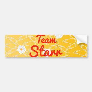 Equipo Starr Etiqueta De Parachoque